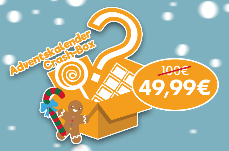 Crash-Box Adventskalender: 49,99€