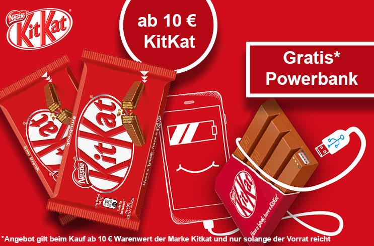 Jetzt Geschenk von KitKat sichern