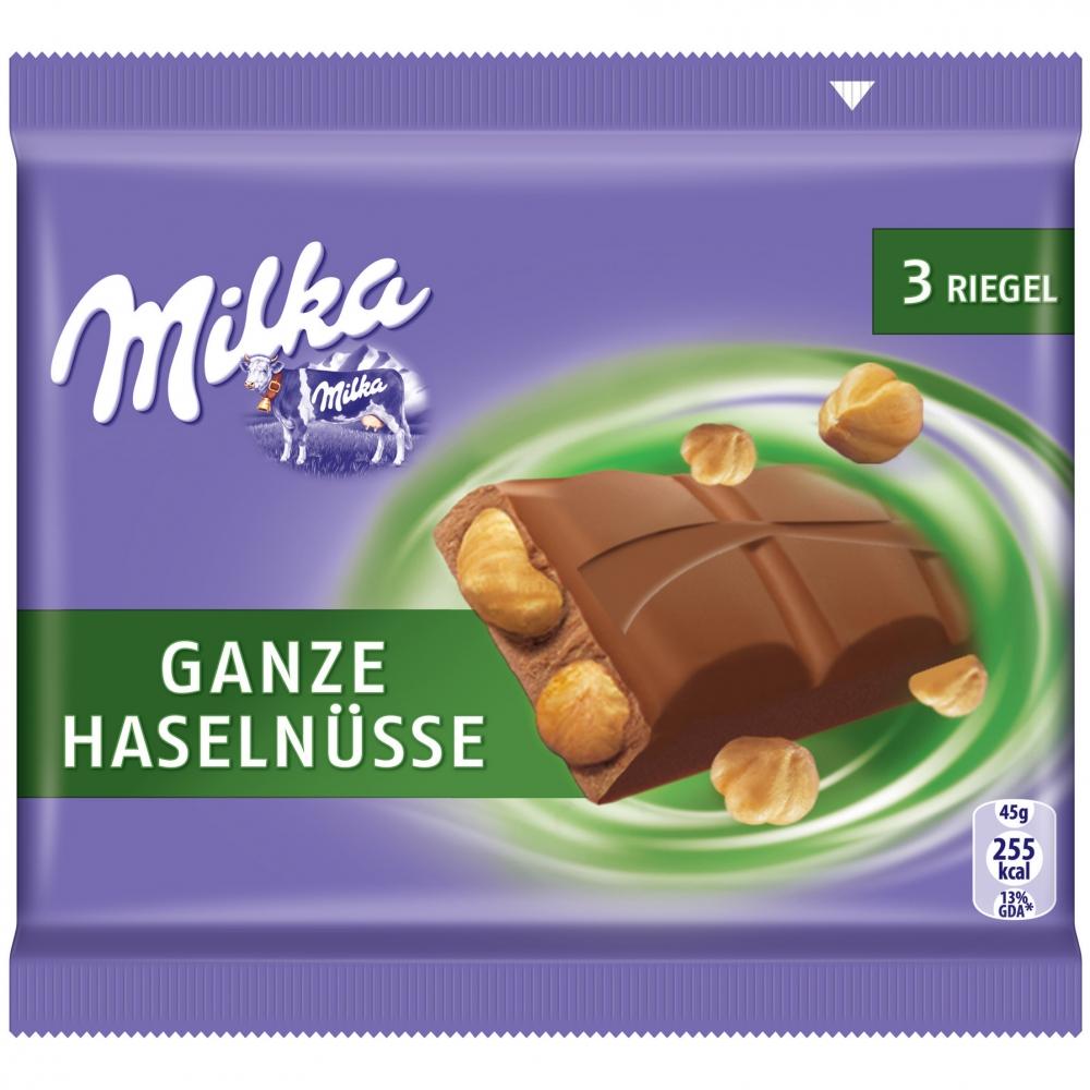 Milka Riegel Ganze Haselnüsse 3er Multipack
