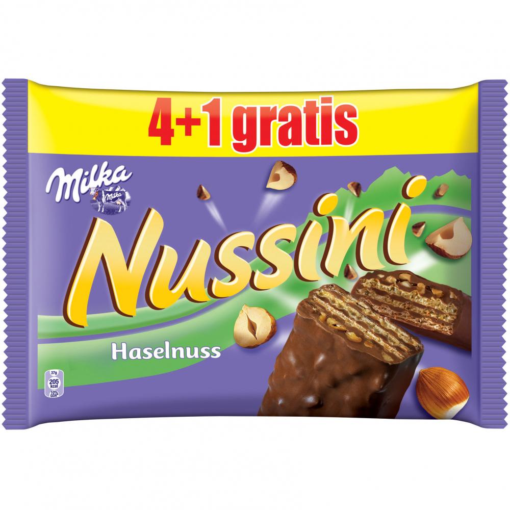 Milka Nussini Haselnuss 4+1