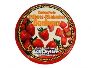 Echt Sylter Brisen-Klömbjes Erdbeer-Rhabarber Bonbons zuckerfrei