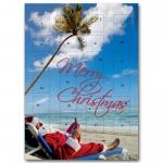 Adventskalender Weihnachtsmann am Strand