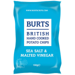 Burts Potato Chips Sea Salt & Malted Vinegar 150g