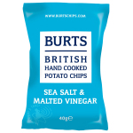 Burts Potato Chips Sea Salt & Malted Vinegar 40g