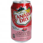 Canada Dry Ginger Ale Cranberry USA 355ml