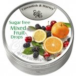 Cavendish & Harvey Mixed Fruit Drops zuckerfrei 175g