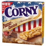 Corny Peanut-Chocolate American Style 6 Riegel