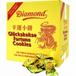 Diamond Glückskekse Gold 1,25 kg Catering-Karton