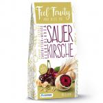 Feel Fruity Sauerkirsche mit Kakao Malz Crunch in Zartbitter- und weißer Schokolade 90g