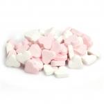 Fortuin Pfefferminzherzen rosa-weiß 1kg