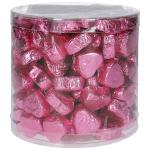 Günthart Kleine Nougatcreme-Pralinenherzen rosa 1,2kg