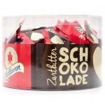 Halloren Schokoladen-Täfelchen Zartbitter 500g Dose