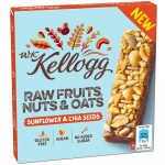 Kellogg Raw Fruits, Nuts & Oats Sunflower & Chia Seeds 4x30g