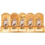 Lindt Mini-Weihnachtsmänner Gold mit Perforation 5er