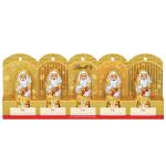 Lindt Mini-Weihnachtsmänner Gold mit Perforation 5x10g
