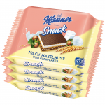 Manner Snack Milch-Haselnuss Vollkornflakes 4x25g