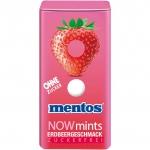 mentos NOWmints Erdbeergeschmack zuckerfrei
