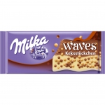 Milka Waves Knusperwelle mit Keksstückchen