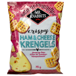 Mr. Knabbits crispy Ham & Cheese Krengels 75g