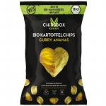 MyChipsBox Bio Kartoffelchips Curry Ananas 90g