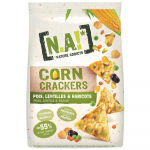 N.A! Nature Addicts Corn Crackers Pois, Lentilles & Haricots 50g