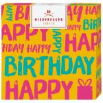 """Niederegger Selection """"Happy Birthday"""" orange 100g"""