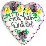 """Süßer König Lebkuchen-Herz """"Ich hab Dich lieb"""""""