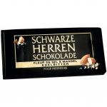 Schwarze Herren Schokolade Fleur de Sel & Mandel Edelbitter