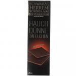 Schwarze Herren Schokolade Hauchdünne Täfelchen Edelbitter 75g