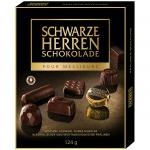 Schwarze Herren Schokolade Feinste dunkle Pralinés 124g