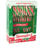 Spangler Candy Canes Natural Peppermint Red, White & Green 12er
