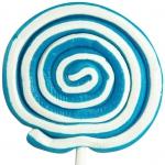 LollyMaster Spiral-Lolly blau-weiß