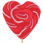 Sweetz Herz-Lolly rot-weiß 80g