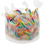 LollyMaster Mini Party Canes Zuckerstangen Regenbogen 24er Dose