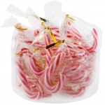 Sweetz Mini Party Canes Zuckerstangen rot-weiss 24er Dose