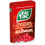 tic tac Mixers Cherry turns to Cola
