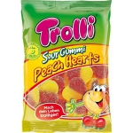 Trolli Sour Gummi Peach Hearts Halal