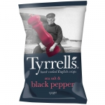 Tyrrells Sea Salt & Cracked Black Pepper 150g