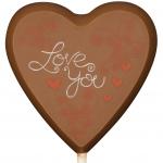 "Weibler Schokoladen Lolly-Herz ""Love You"""