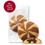 Wilhelm Gruyters Butter-Cookies Schwarz-Weiß 70er Catering-Karton