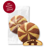 Wilhelm Gruyters Butter-Cookies Schwarz-Weiß Mandelcremefüllung 70er