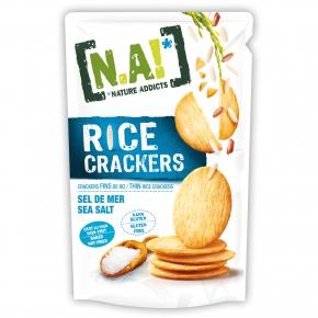 Nature Addicts Rice Crackers Sea Salt 70g