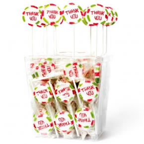 "Amore Sweets Rock Love Lolly ""Thank You"" 100×10g"