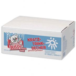 Bussy Kratz-Trinkbecher Mix 40x200ml