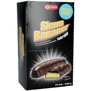 Carletti Skum Bananer lakrids 600g