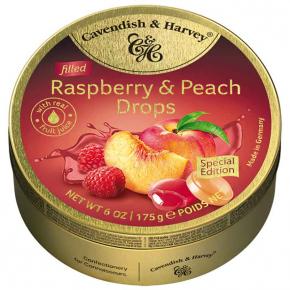 Cavendish & Harvey Filled Raspberry & Peach Drops 175g