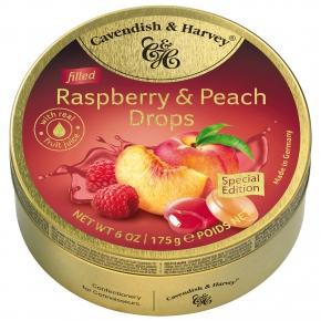 Cavendish & Harvey Raspberry & Peach Drops filled 175g