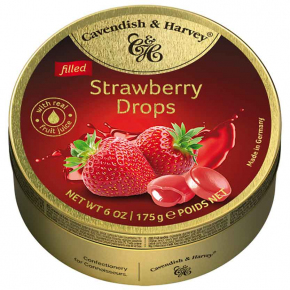 Cavendish & Harvey Filled Strawberry Drops 175g