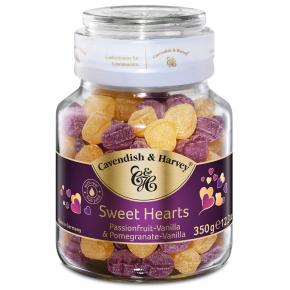 Cavendish & Harvey Sweet Hearts Passionfruit-Vanilla & Pomegranate-Vanilla 350g