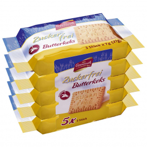 Coppenrath Zuckerfrei Butterkeks 5x3er